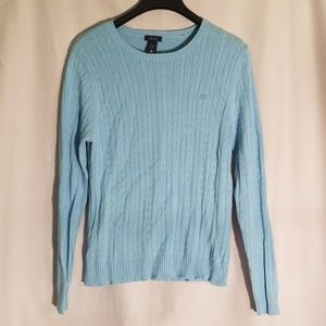 2/$30 Izod cotton cable knit sweater blouse
